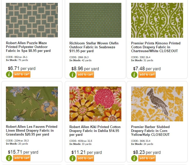 Upholstery Fabric: 20 Online Home Fabric Stores 3