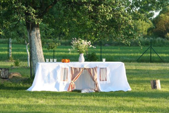 Playhouse tablecloth