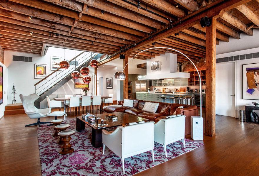 stunning soho loft interior