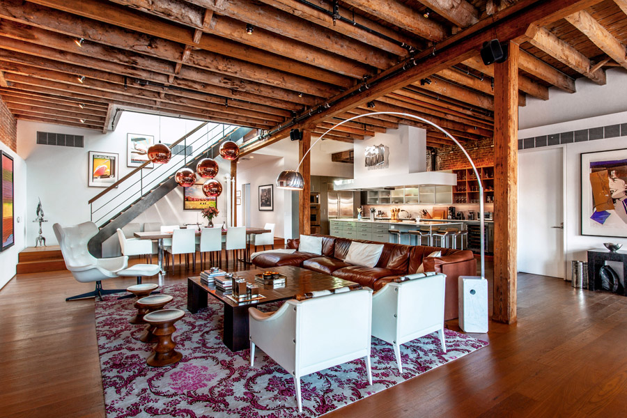 Stunningly designed abode fits every description of a soho for Loft soho new york