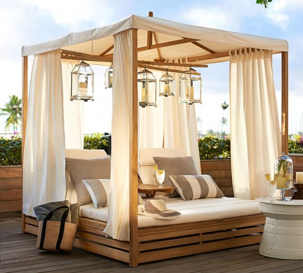 Beautiful Outdoor Teak Daybed | Decoholic on Belham Living Lilianna Outdoor Daybed id=30890