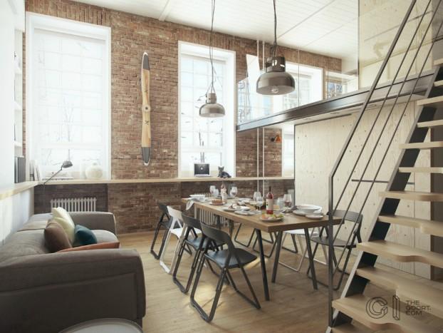 modern small loft jakyri's apartmnt 16