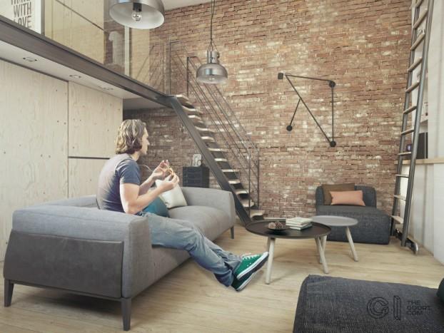modern small loft jakyri's apartmnt 3