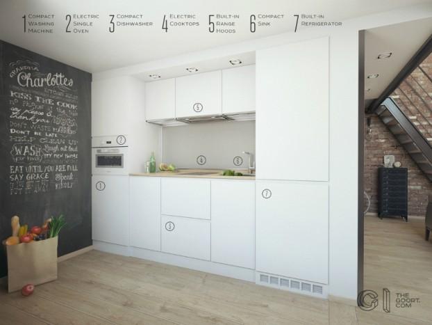 modern small loft jakyri's apartmnt 6