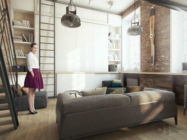 modern small loft jakyri's apartmnt 9