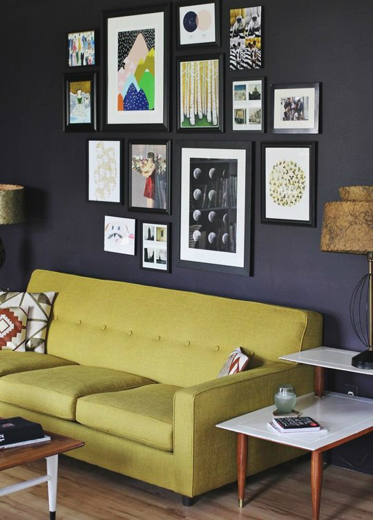 color blocking in frames