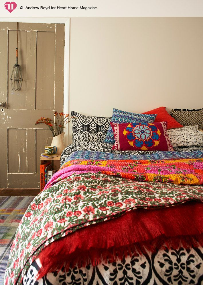 colorful room in bohemian style