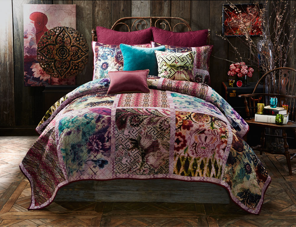 Bodacious bedrooms on pinterest bedding bohemian for Bedroom quilt ideas