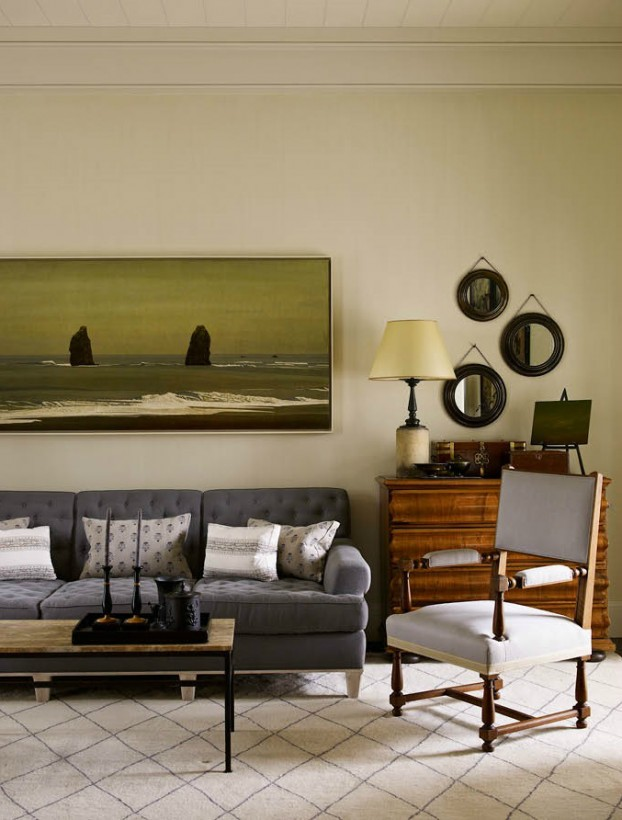 interiors are decorated with assemblage of warm textiles, vintage furnishings, and custom goods 11