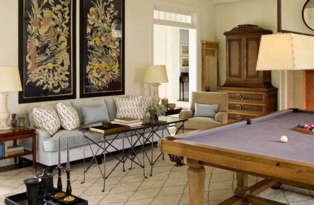 interiors are decorated with assemblage of warm textiles, vintage furnishings, and custom goods 12