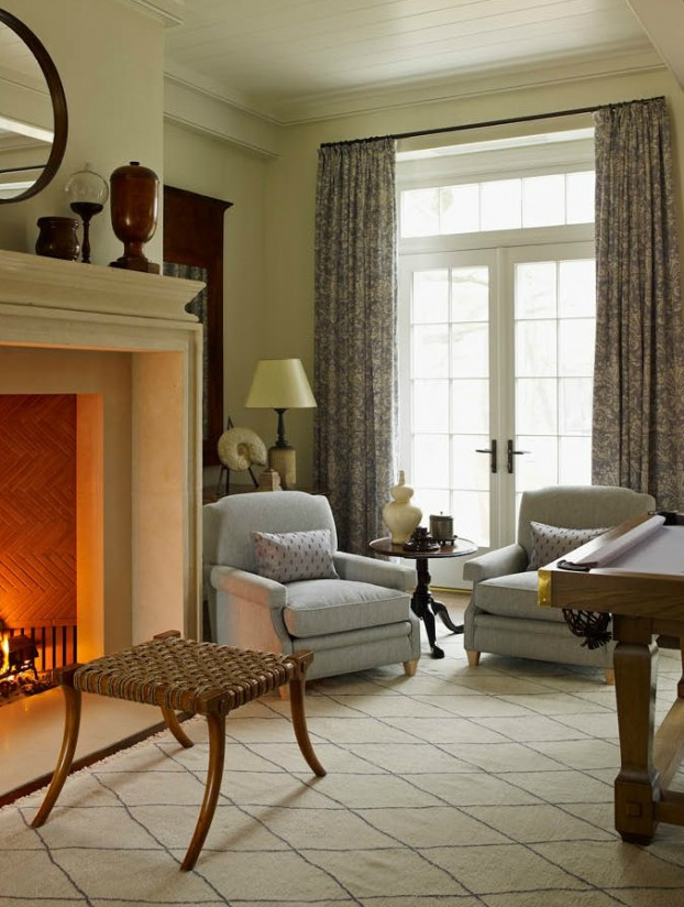 interiors are decorated with assemblage of warm textiles, vintage furnishings, and custom goods 23