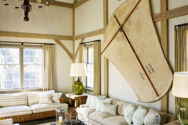 interiors are decorated with assemblage of warm textiles, vintage furnishings, and custom goods