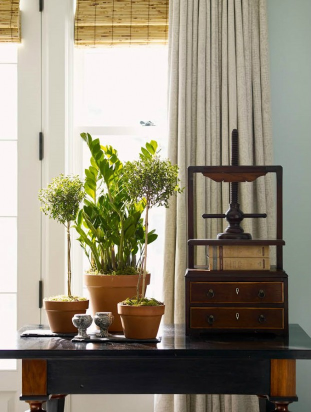 interiors are decorated with assemblage of warm textiles, vintage furnishings, and custom goods 8