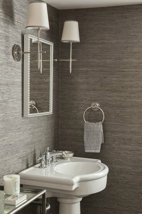 28 powder room ideas decoholic - Wallpaper for bathrooms ideas ...