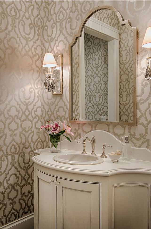 28 powder room ideas decoholic for Bathroom decorating ideas wallpaper