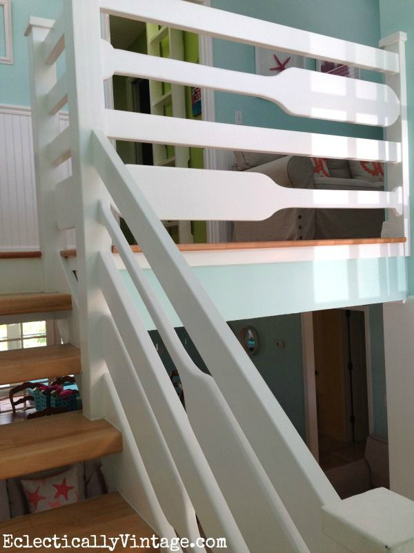 oar banisters and railings