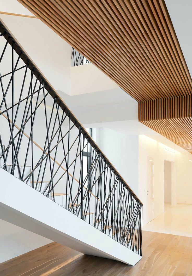 47 Stair Railing Ideas on elegant modern villa design