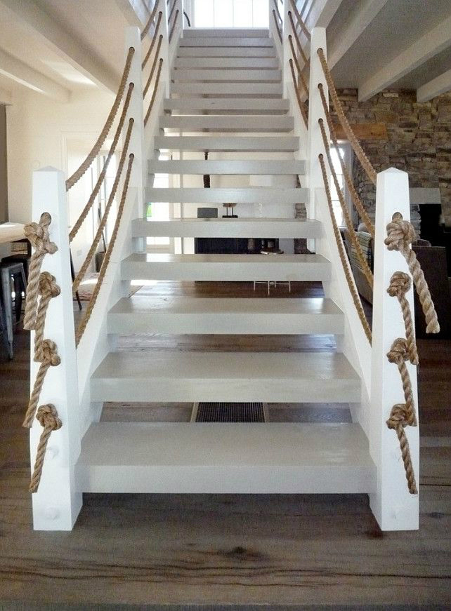 interior white stair rails