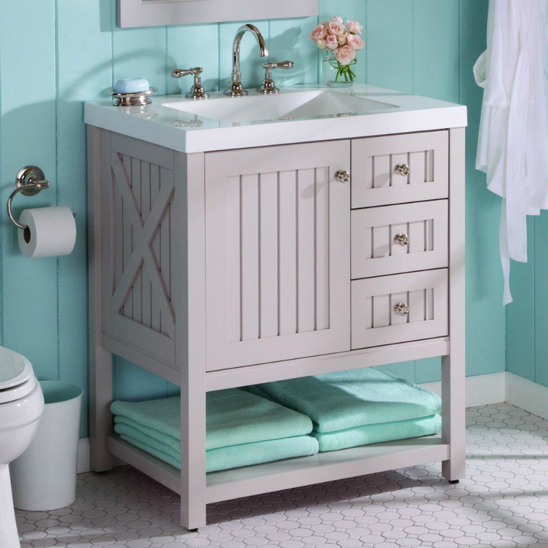 cottage style bathroom vanity - home design ideas and pictures