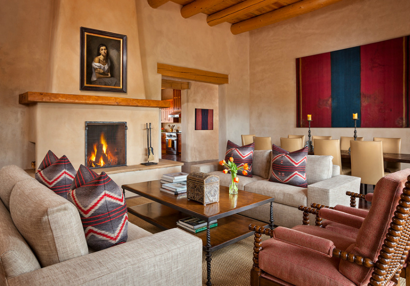 Casual luxe interiors that are sleek spacious for Mexican inspired living room ideas