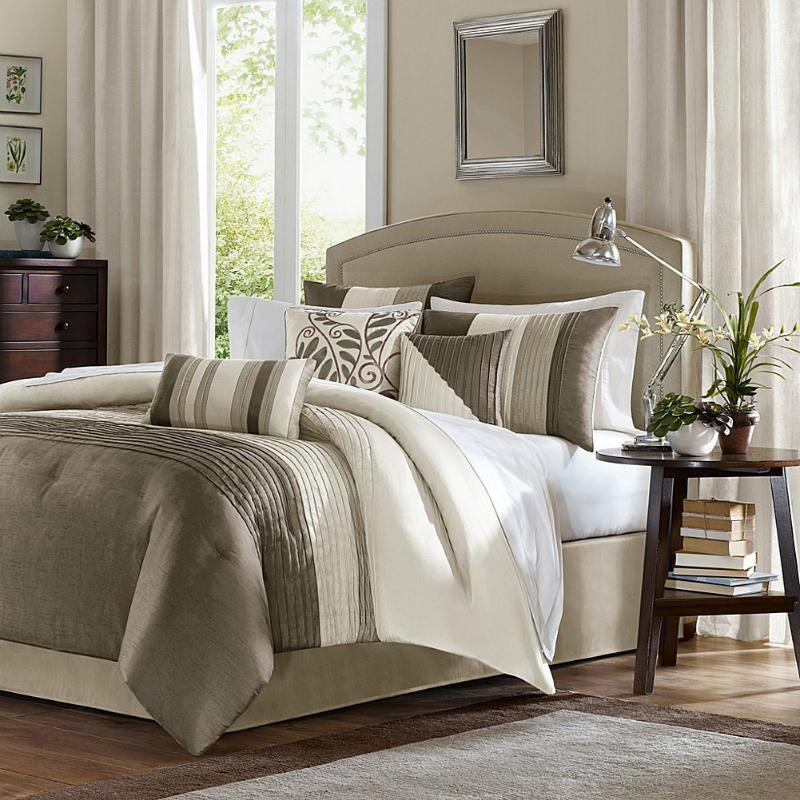 amherst 7 piece comforter set color natural size king