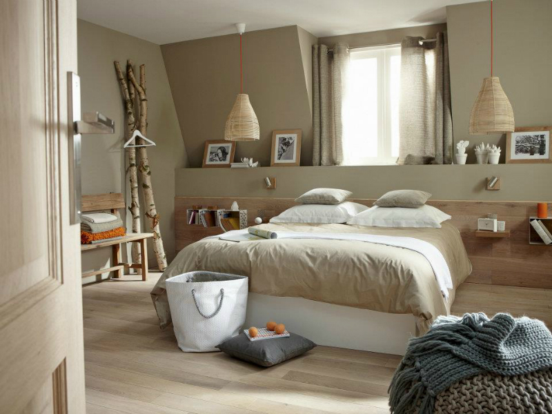 37 earth tone color palette bedroom ideas decoholic - Idee deco chambre adulte taupe ...