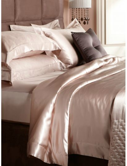 silk and satin fabrics for bed
