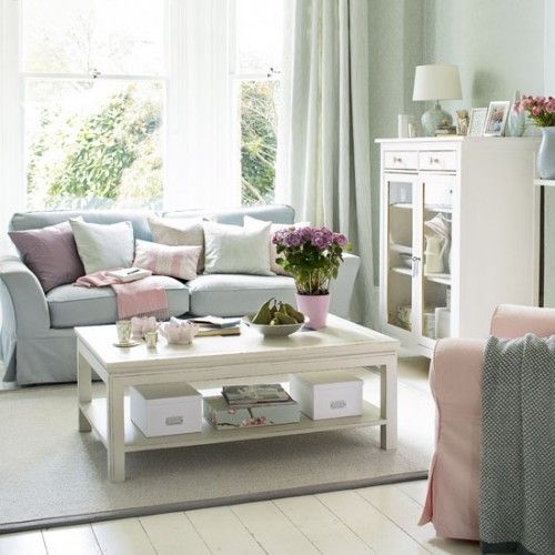 light gray white and blush pink living room