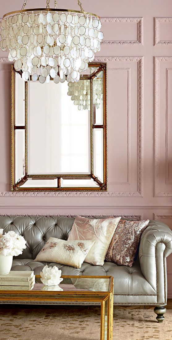 How to decorate with blush pink decoholic for Living room ideas rose gold