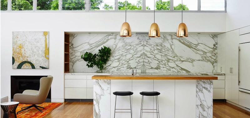 Kitchen Lighting Ideas Decoholic - Gold kitchen pendants