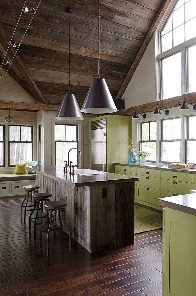 light green cabinets