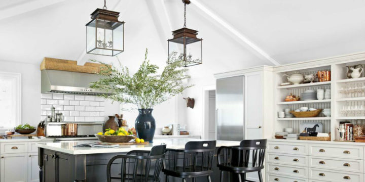 white Kitchen Lighting Idea