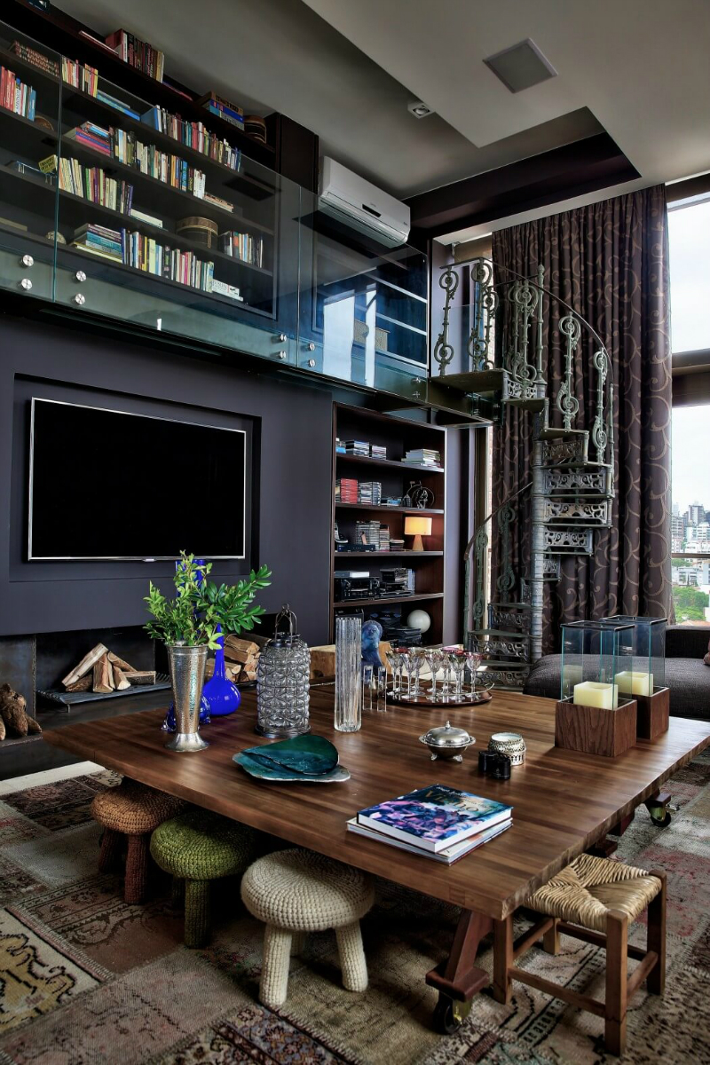 Luxury And Dramatic Contemporary Apartment In Brazil