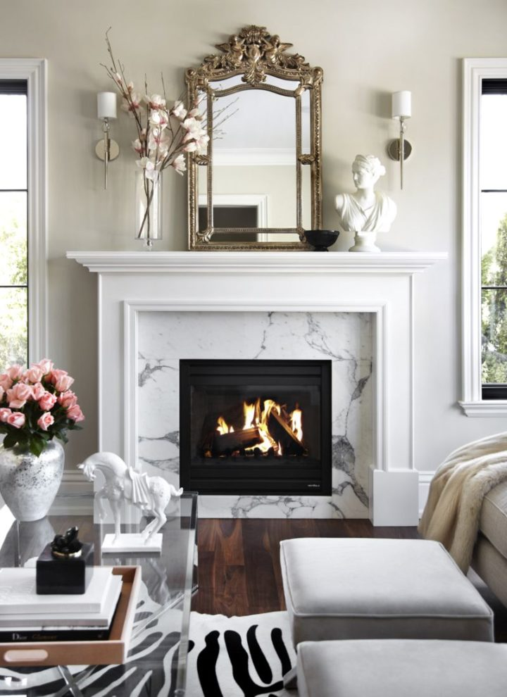 fireplace idea with marble