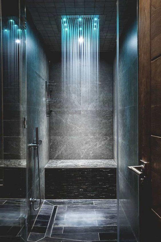 Luxury LED Light Stainless Steel Shower Head