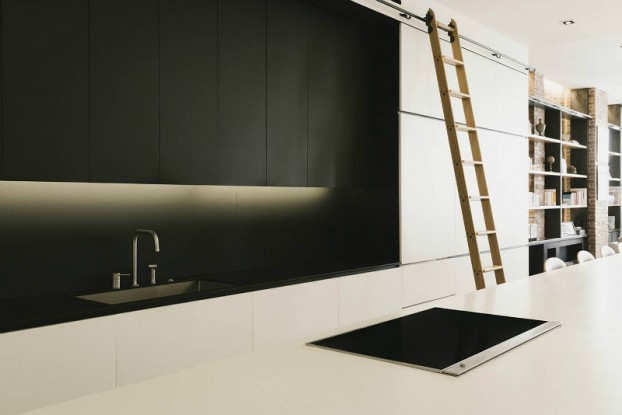 minimal black and white kitchen by raad