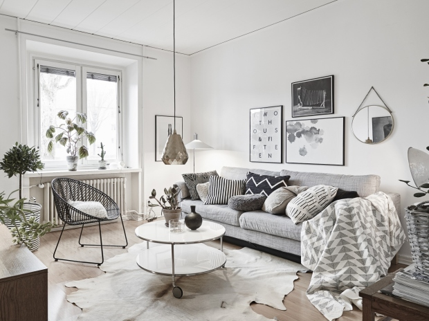 Muted Shades Look Great In This Small Apartment