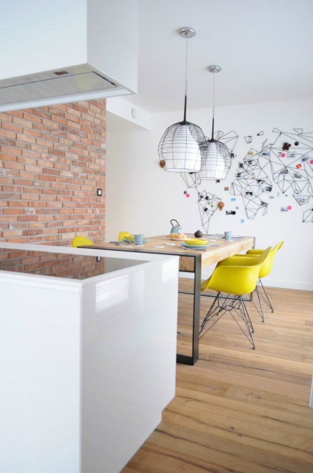 White Walls Antiqued Floorboards and Old Brick 15