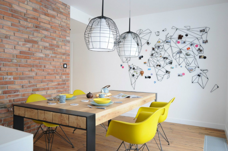 White Walls Antiqued Floorboards And Old Brick - Decoholic