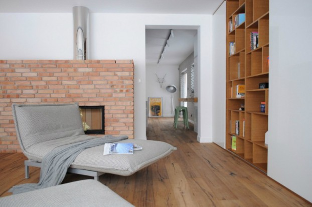White Walls Antiqued Floorboards and Old Brick 8