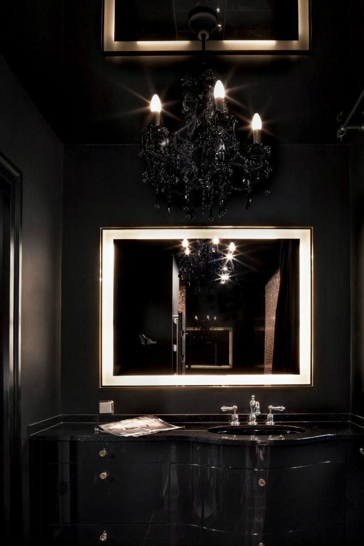 drop leaf table in bathroom brown and silver elegance decoholic