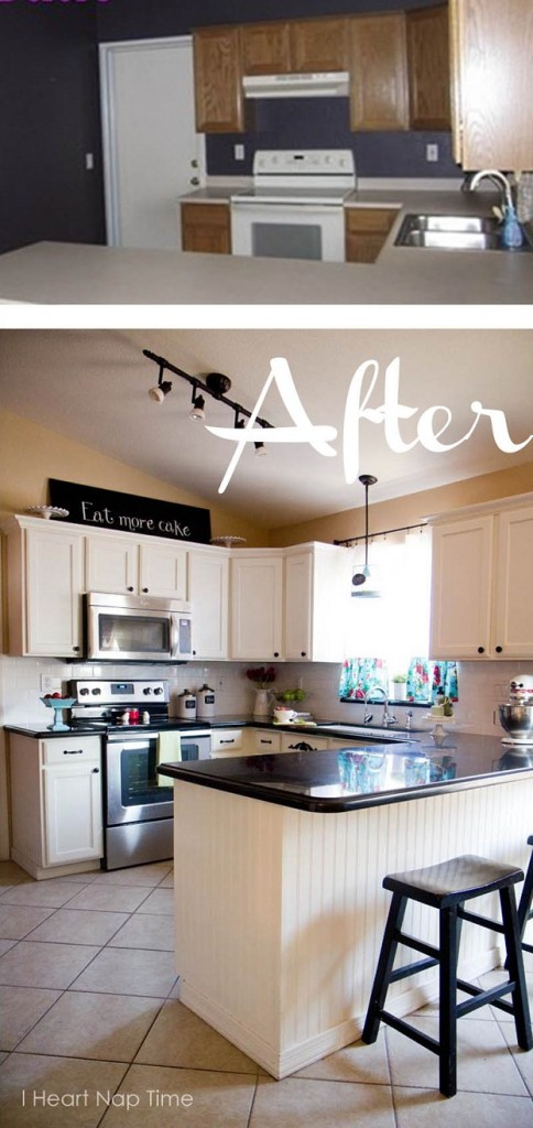 how to paint kitchen cabinets white by i heart nap time