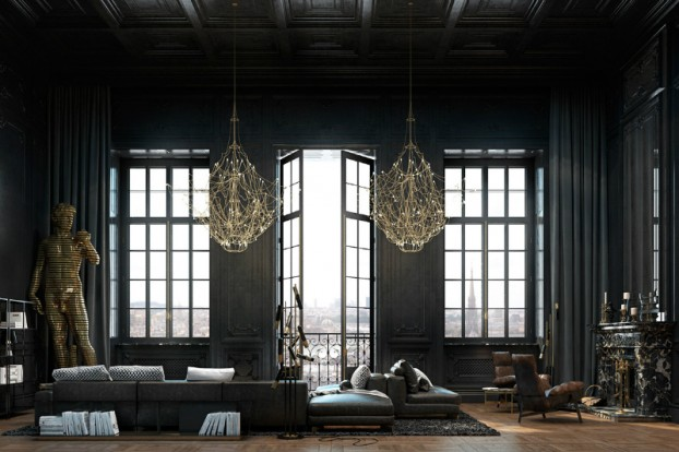Dramatic interior In Paris 18