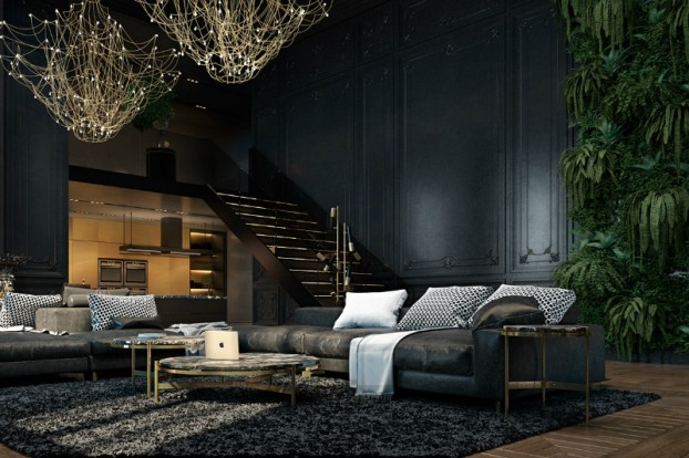 Dramatic interior In Paris 6