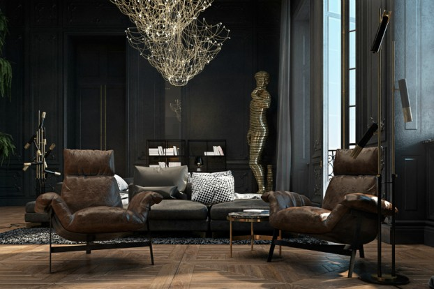 Dramatic interior In Paris 7