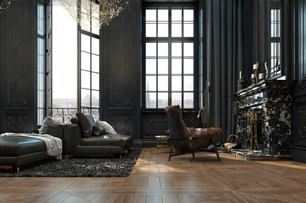 Dramatic interior In Paris 9
