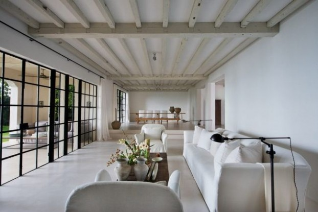fashion designer Calvin Klein's stylish home