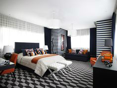 Contemporary House In A Palette Of Predominantly Black And White 13