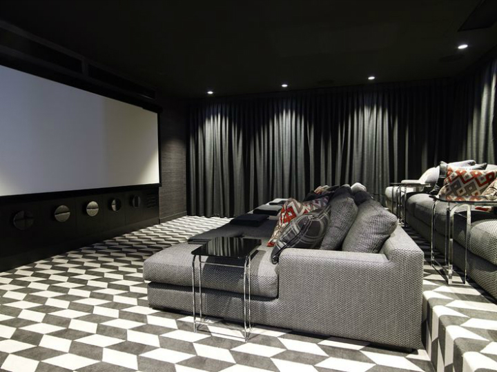 Contemporary House In A Palette Of Predominantly Black And White 17