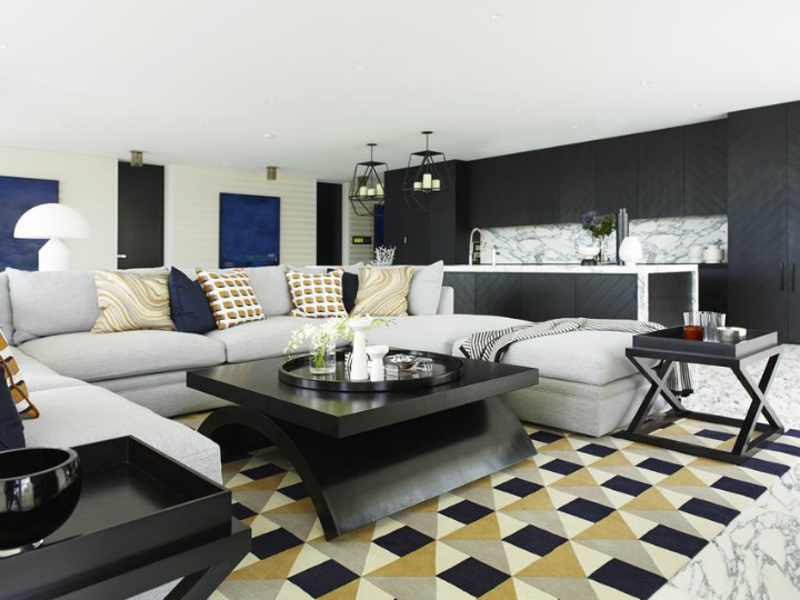 Contemporary House In A Palette Of Predominantly Black And White 7
